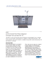 Lab Application Data – eGC® Canister TO-15