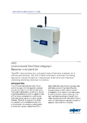 eGC® Lab Application Data – Benzene in Ambient Air